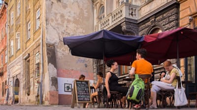 Lviv's architecture, as well as its multitude of cafes and laid-back atmosphere, help make it Ukraine's window on Europe [Dan Peleschuk/ Al Jazeera]