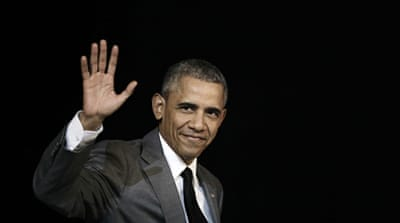 Obama will take the podium for the last time as US president on Tuesday night, in a speech to cement his legacy before his successor, Donald Trump, a Republican, takes office [EPA]