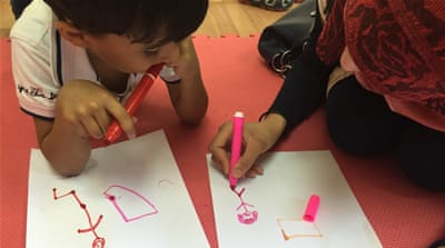 Syrian refugee children process trauma through art