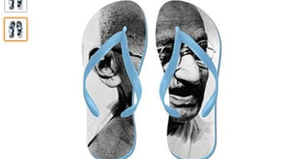 Amazon's Mahatma Gandhi flip-flops prompt anger