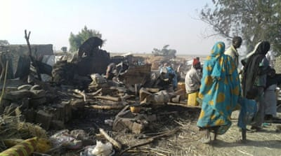 A fighter jet struck an IDPs camp in Rann, northeast Nigeria [MSF/Handout via Reuters]