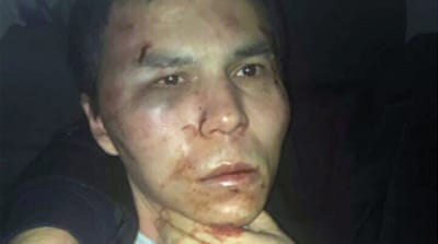 Abdulkadir Masharipov, seen after he was arrested by police on Monday [EPA]