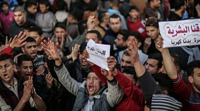 Protests erupt in Gaza as electricity crisis deepens