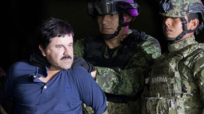 Joaquin 'El Chapo' Guzman is made to face the press in this January 2016 file photo [Eduardo Verdugo/AP]