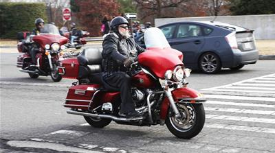 Bikers for Trump arrive for inauguration with fanfare