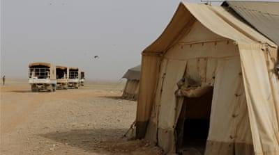 The Rukban camp has been targeted several times during Syria's war [File: Muhammad Hamed/Reuters]