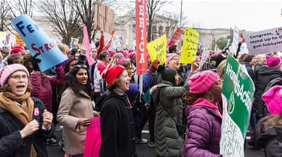 Washington DC: Women's March for equal rights