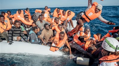 MV Aquarius rescues refugees on Mediterranean Sea