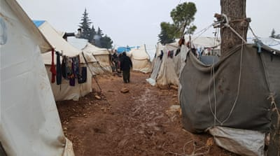 Displaced Syrians stuck in limbo at Idlib's Taiba camp