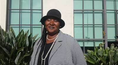 Amiyoko Shabazz used to be homeless but says she can't be sure if she was ever counted as she didn't sleep on the streets. She now volunteers with homeless women [Carla Green/Al Jazeera]