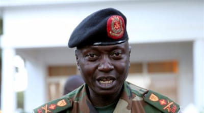 Lieutenant-General Ousman Badjie used a new year message to show his support for Jammeh [Afolabi Sotunde/Reuters]
