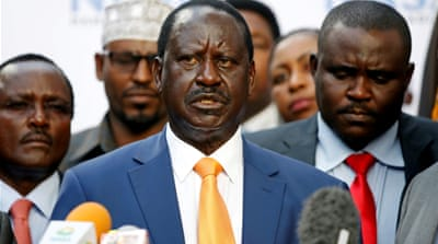 Why did Raila Odinga withdraw from the election rerun?