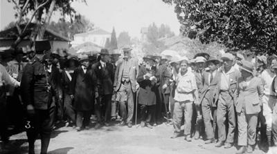 Arthur James Balfour visiting Jewish colonies, Palestine, 1925 [Universal History Archive/Getty Images]