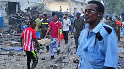 Deadly double bombing strikes Mogadishu