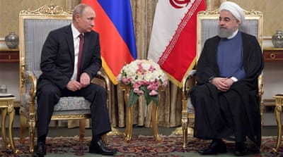 Syria takes centre stage as Putin meets Iran's leaders