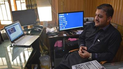 Zafar Achakzai is a journalist in the restive Pakistani province of Balochistan [Arshad Butt/AP]