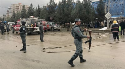 Explosion hits Kabul as political gathering under way