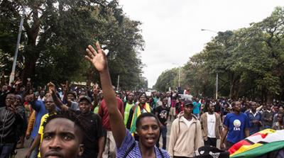 Zimbabweans demand Mugabe's resignation at Harare rally