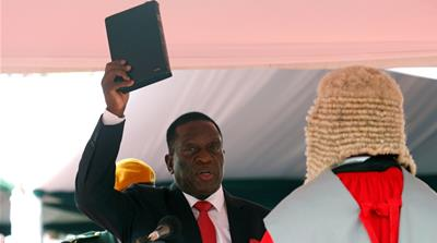 Emmerson Mnangagwa sworn in as Zimbabwe president