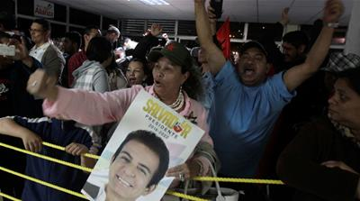 Hondurans anxiously await election results