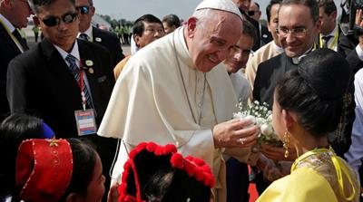 Rohingya challenge Pope Francis over silence in Myanmar