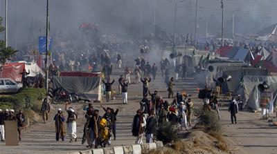 What were the protests in Pakistan about?