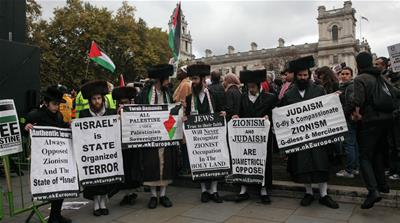 UK protesters mark 100 years since Balfour Declaration