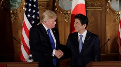 Abe and Trump call for 'maximum pressure' on N Korea