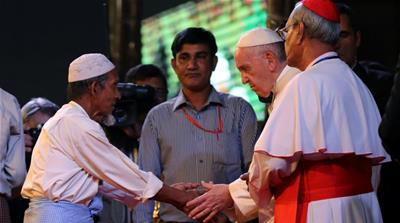 Pope Francis utters the word 'Rohingya' after criticism