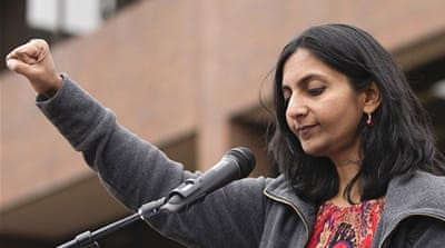The Socialist Alternative's Kshama Sawant says there is a mood to fight back against Trump [Jason Redmond/Reuters]