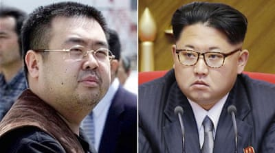 File: Kim Jong-nam, left, was the exiled half-brother of North Korea's leader Kim Jong-un, right [AP]