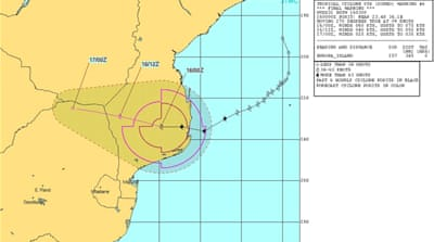 Tropical Storm Dineo hits Mozambique