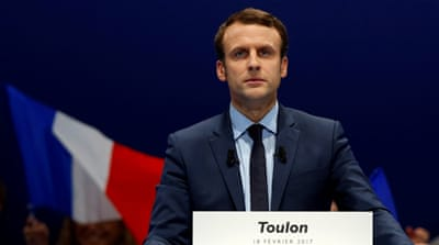 Muslim activists say Macron has avoided anti-Islam rhetoric in his presidential campaign [Jean-Paul Pelissier/Reuters]