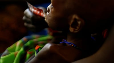 Residents of Unity state are suffering severe and acute malnutrition, the UN says [Siegfried Modola/Reuters]