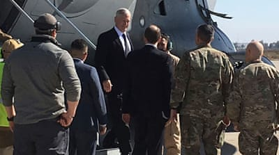 Mattis has just a week to send Trump a strategy to accelerate the fight against ISIL [AP]