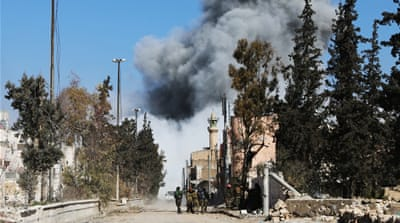 Turkey's state-run media said that rebels had overrun the centre of Al Bab [Rafat Ahmad/AFP]