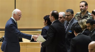 Geneva talks: Rebels positive after meeting de Mistura