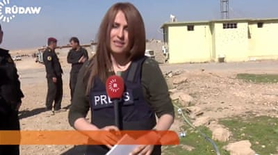 Colleagues and friends paid tribute to the Rudaw journalist [AP]