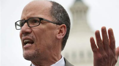 Perez, left, and Ellison, right, were the front-runners in Saturday's vote [AFP]