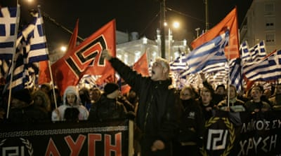 Golden Dawn appears to be as politically isolated as it was when its leading cadre were arrested and charged in the 2013 murder of anti-fascist rapper Pavlos Fyssas [File: Milos Bicanski/Getty Images]