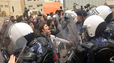 Basil al-Araj: Police break up protest over court case