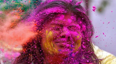 A feast of spectacular colour as Hindus celebrate Holi