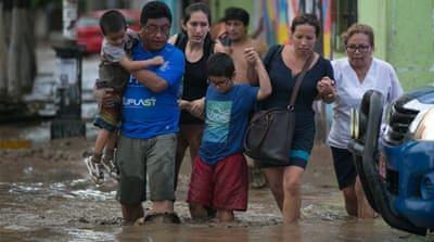 The rains have displaced thousands since the beginning of the year [Douglas Juarez/Reuters]