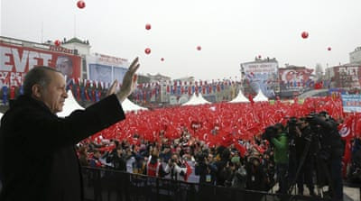 Turkey's political future tested in Europe