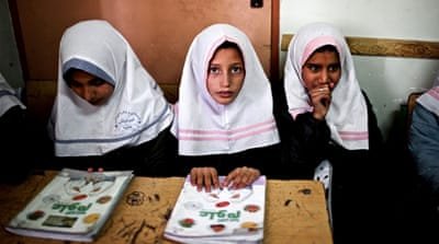 On the first day of the new school year in Afghanistan, almost a third of all children across the country are unable to go to school [Mohammed Anwar Danishyar/AP]