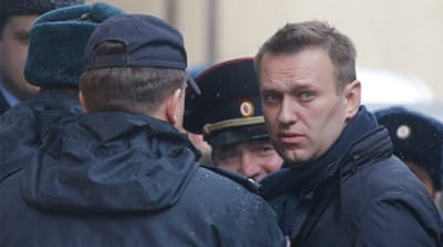 Navalny organised protests, demanding the resignation of Prime Minister Medvedev [Maxim Shemetov/Reuters]