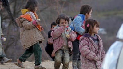 UN says the recently displaced are at great risk as nearby front lines continue to shift [Reuters]