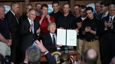 Critics say Trump's order is unlikely to result in a boost in coal production or substantial jobs creation [Reuters
