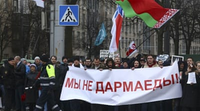 The protest of Belarus' 'social parasites'