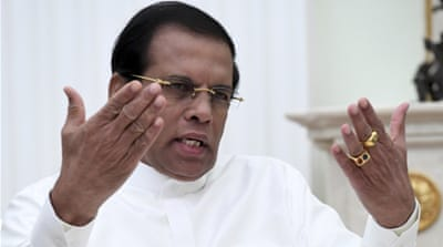 Sri Lanka's leader backs arrests of 'official' killers